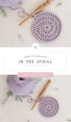 In this easy to understand tutorial you will learn how to crochet in the spiral. Whether you're a freshman or are studying the basics of crochet, this free step-by-step video tutorial and a beginner-friendly written pattern. Crochet Stitches For Beginners, Beginner Crochet Tutorial, Beginner Crochet Projects, Crochet Instructions, Crochet Stitches Patterns, Crochet Basics, Spiral Crochet Pattern, Step By Step Crochet, Crochet Tutorials