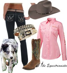 """Western Style"" by equestrianista on Polyvore Need to shop for stock show"
