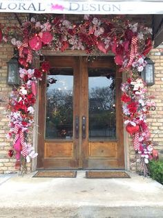 Valentine Garland For Front Door By Regina Gust Designs