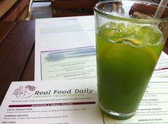 Kale & Kuke Lemonade at Real Food Daily
