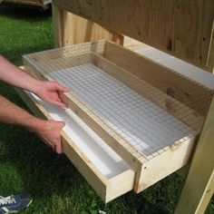 Anything to make clean-up quick and easy! Easy Clean Chicken Coops - Litter Trays