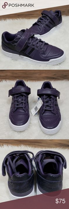 online store 54ed0 818d5 NWT Adidas Forum Lo Purple Sneakers Adidas Forum Sneakers - new with box -  purple and white - snakeskin style texture - size women s adidas Shoes  Sneakers