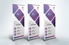 Another perfect alternative of corporate or business style roll-up banner templates for your projects. These Roll-up Banner templates are perfect for any kind Template Flyer, Template Brochure, Banner Template, Pull Up Banner Design, Pop Up Banner, Flyer Design Inspiration, Business Brochure, Business Card Logo, Product Brochure