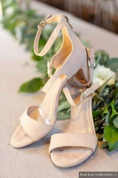 Wedding shoes ideas - tan, brown, taupe, open toes, fall, sandals, straps {Red Eye Collection}