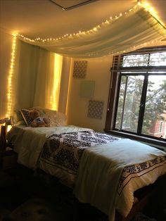 Dorm Room Bed Canopy, Mint, Fairy Lights, Michigan State University Part 84