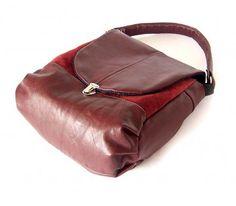 torby na ramię - damskie-Torba cygańska BORDO