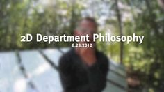 2D Department Philosophy by Cranbrook Academy of Art. Elliott Earls gives a very brief description of the Cranbrook Academy of Art 2D Department Philosophy