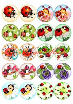 Bottle Cap Art, Bottle Cap Crafts, Bottle Cap Images, Diy And Crafts, Crafts For Kids, Arts And Crafts, Paper Crafts, Insect Clipart, Ladybug Crafts