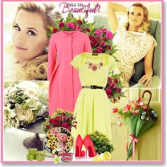 Reese Witherspoon Glamour UK March 2012 by glitterbaby77 on Polyvore featuring мода, Dorothy Perkins, Orla Kiely, Christian Louboutin, Dolce&Gabbana, Iosselliani, Oscar de la Renta, Calla, Spring and dress