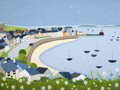 Beaumaris Town by Janet Bell