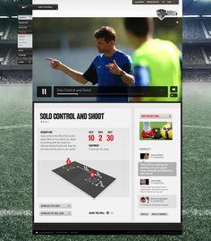 Nike Football+ by Rodrigo Sobral, via Behance