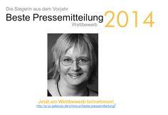 Im vergangenen Jahr hat Ursula Martens von Wortkind den Wettbewerb gewonnen. Im #Interview verrät die erfahrene #Texterin Ihr Erfolgsrezept und berichtet, wie sie von dem Titel bei ihrer alltäglichen PR-Arbeit profitieren konnte: http://pr.pr-gateway.de/gute-online-pressemitteilungen-schreiben.html #PR #Wettbewerb