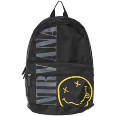 Nirvana Smiley Backpack | Hot Topic ($35) ❤ liked on Polyvore featuring bags, backpacks, accessories, day pack backpack, backpacks bags, knapsack bags and rucksack bag