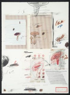 Cy Twombly 'No. IV', 1974, Lithograph and mixed media on paper