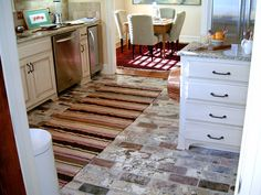 Brick pavers for kitchen flooring