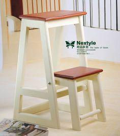 耐品家居 多功能折叠凳 两用梯凳 家用梯子 木制梯凳 花凳