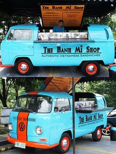 A 1968 Volkswagen, serving Banh Mi (Vietnamese sandwiches)!