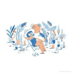 Finally some good weather and sunshine over here, here's an early summer vibe illustration even though we still have to pass spring first.  #jacquesandlise #illustration #illustrator #illustratie #illustrationgram #instaillustration #summer #summervibe #beach #weather #sunny #relax #plants #lady #woman #design #drawing