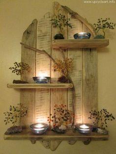 Heb jij nog ergens wat pallet of steigerhout liggen? Even knutselen en je maakt de mooiste decoratie voor aan de muur! - Zelfmaak ideetjes