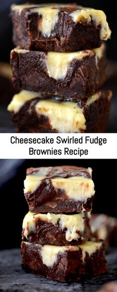 Rich, fudgy brownies marbled with beautiful swirls of creamy cheesecake.- Rich, fudgy brownies marbled with beautiful swirls of creamy cheesecake. Life do… Rich, fudgy brownies marbled with beautiful swirls of… - Easy Cake Recipes, Brownie Recipes, Sweet Recipes, Baking Recipes, Cookie Recipes, Dessert Recipes, Baking Desserts, Chocolate Chip Cookie Dough, Chocolate Cheesecake