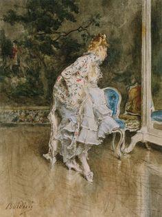 """""""Bellezza davanti allo Specchio """" di Giovanni Boldini"""