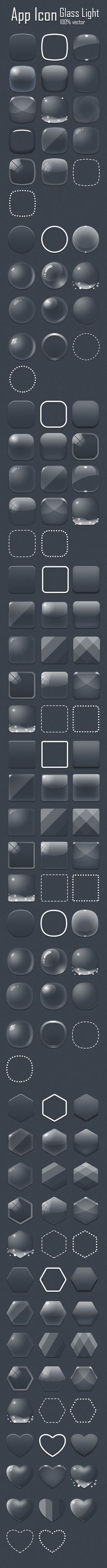Glass App Icon : Hav...@茶小白采集到GUI(2314图)_花瓣UI/UX