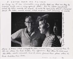 A Letter from My Father,  1960, print and inscribed about 1975. Duane Michals (American, born in 1932) | Museum of Fine Arts, Boston