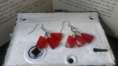 Ruby Colored Earrings by MaleseDesigns on Etsy, $9.00