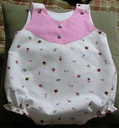 CC Taylor by marbroy, via Flickr. CC Taylor made from 100% cotton print with Susan Branch cupcake print and raspberry pima cottom gingham check. Piped yoke. Split pattern, added seam allowances and piped seam, covered buttons