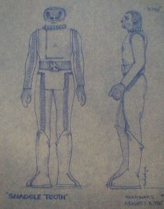 Blue Snaggletooth Action Figure Blueprint and Color Specification Sheet - Star Wars Collectors Archive