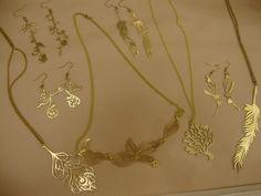 Brass lasercut jewelry