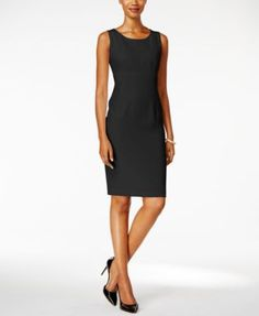 Kasper Crepe Sheath Dress $46.99 This crepe sheath dress by Kasper is the perfect addition to your workday wardrobe. Dress it up with heels and a jacket or dress it down with flats on its own!