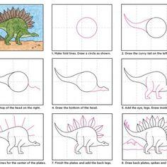 Draw a Stegosaurus