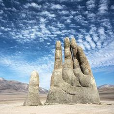 365 WONDERS OF THE WORLD: #98  Mano de Desierto is a giant hand reaching for the stars in the middle of the Atacama Desert, located in the Atacama Desert in Chile, 75 km to the south of the city of Antofagast  Read more>>  http://www.travelstart.co.za/lp/santiago/flights  #365wondersoftheworld #chile #southamerica #latinamerica