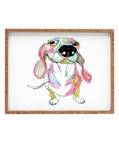 Look at this Casey Rogers Sausage Dog Rectangular Tray on #zulily today!