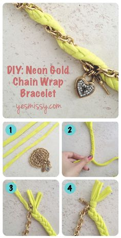 DIY Chain Wrap Bracelet  -- I wonder how hard it would be to make multiple braided pieces that can be swapped out?
