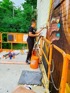 Detroit Art, Museum Of Contemporary Art, Black Art, Home Art, Wall Murals, Life Is Good, Art Gallery, Artist, Wallpaper Murals