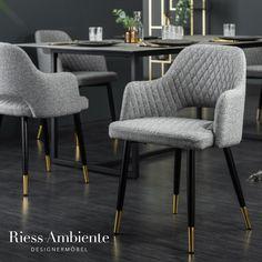 Du suchst für Deinen Esstisch noch nach Stühlen die sowohl bequem als auch stylisch sind? Dann sind unsere Armlehnenstühle aus der Serie PARIS vielleicht genau die richtige Wahl für Dich. Die Sitzschale ist mit einem hochwertigen Flachgewebe bezogen und verfügt über eine Ziersteppung, die die gesamte Rückenlehne und die Sitzfläche bedeckt. Die schwarzen Füße bilden hierzu einen schönen Kontrast und sind mit goldenen Spitzen veredelt.
