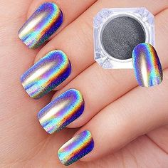 Are you searching for Best nail holographic powder?Here are the list for Top 5 Best nail holographic pow Glitter Nails, Fun Nails, Holographic Powder, Gel Top Coat, Powder Nails, Hair And Nails, Manicure, Nail Designs, Chrome