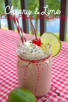Share a Coke with a Cherry and Lime Coke Float Milkshake - This Silly Girl's Life