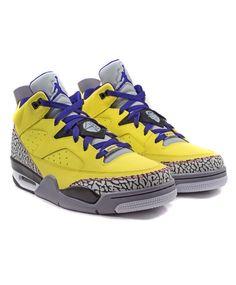 Air Jordan: Son of Mars Low (Tour Yellow/Grape Ice/Cement Grey/White) $140