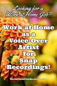 Snap Recordings is hiring work at home voice-over artists (English and bilingual English/Spanish) to add to their roster of voice-over talent. These work from home positions are contract. Awesome home-based freelance job opportunity! You can make money from home!