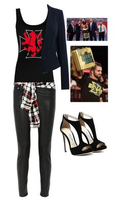"""Joining The Authority"" by wannabebeckylynch ❤ liked on Polyvore featuring BLK DNM, Twenty, Amanda Wakeley and CENA"