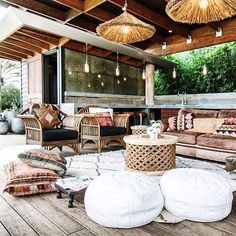✓ 50 EASY WAYS TO REFRESH BACKYARD WITH ANY PATIO - After you've got chosen the best way you'll assemble your new porch, you'll get occurring the endeavor. Thirdly, it has to moreover match the subject of your backyard. Outdoor Rooms, Outdoor Living, Outdoor Decor, Small Outdoor Patios, Rustic Outdoor, Outdoor Seating, Rustic Decor, Sweet Home, The Grove Byron Bay
