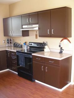 How to refinish garage style kitchen cabinets maybe for Cheap way to refinish kitchen cabinets