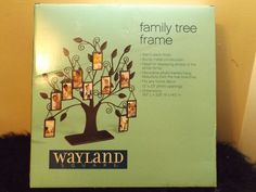 new  Wayland Square decorative family tree picture frame display black #WaylandSquare #standupframe