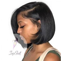 Lace Front Bob Wig Price: 51.95 & FREE Shipping #hashtag4 Choppy Bob Hairstyles, Wig Hairstyles, Straight Hairstyles, Black Hairstyles, Bob Haircuts, Medium Haircuts, Curly Hair Styles, Natural Hair Styles, Bobs For Thin Hair