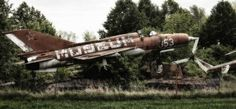 The abandoned MiG-21 Fishbed fighter plane to the defunct Motor Technica Museum at Bad Oeynhausen