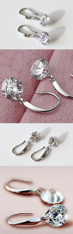 These gorgeous sterling silver 2.0 carat Swarovski crystal earrings are perfect for everyday wear and add a touch of elegance to any outfit. Also, they make a beautiful gift for any occasion.
