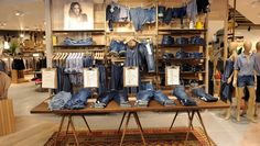 """E S P R I T London, England, """"The Denim Department"""", pinned by Ton van der Veer"""